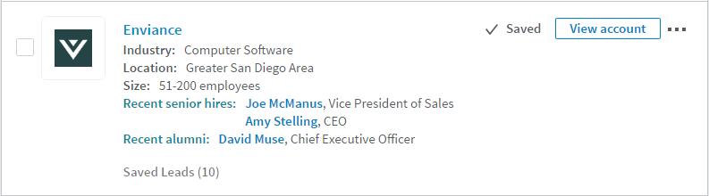 Filtering using LinkedIn Sales Navigator
